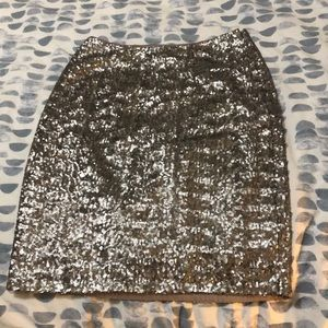 Champagne sequin skirt size 0